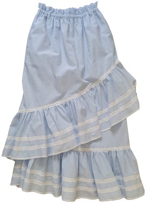 Jonathan Simkhai Blue Cotton Skirts