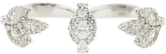YEPREM 18kt White Gold Diamond Double Ring