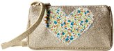Peppercorn Kids Glitter Purse With Heart Applique (Toddler) - Champagne Silver - One Size