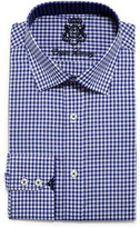 English Laundry Mini-Gingham Check Dress Shirt, Blue
