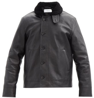 Caruso Shearling-collar Leather Flight Jacket - Black