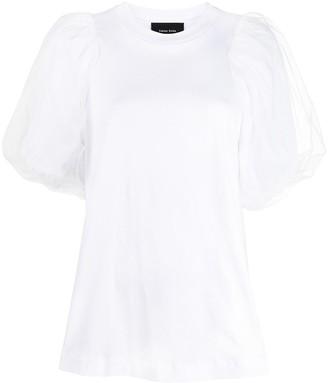 Simone Rocha puff-sleeve crew-neck T-shirt