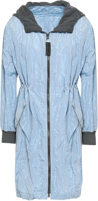 Brunello Cucinelli Bead-embellished Taffeta Hooded Jacket