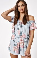 KENDALL + KYLIE Kendall & Kylie Off-The-Shoulder Lace-Up Romper