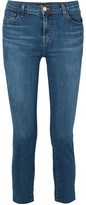 J Brand Ruby Cropped High-rise Slim-leg Jeans - Mid denim