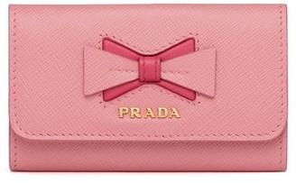 Prada Bow Logo Key Holder