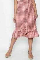 n/a Gingham Ruffle Skirt