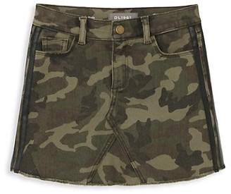 DL1961 Girl's Jenny Camo Denim Skirt