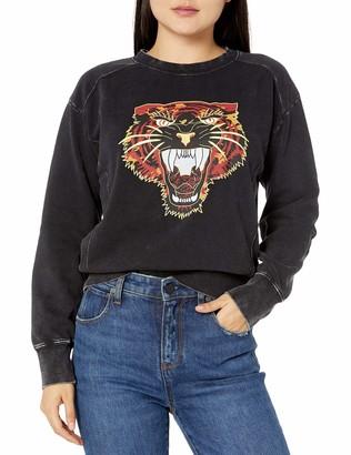 RVCA Junior's Mended Pullover Crew Neck Sweatshirt