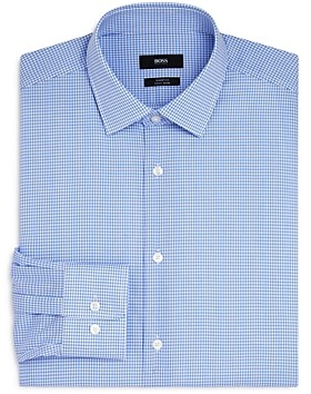 HUGO BOSS Mini Check Regular Fit Dress Shirt