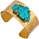 Blydesign Gold And Turquoise Nicole Cuff Bracelet