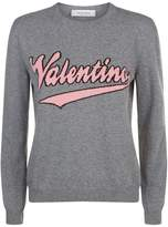 Valentino Cashmere-Wool Logo Sweater