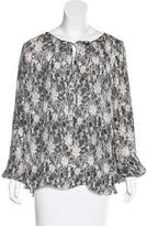 L'Agence Silk Floral Print Blouse