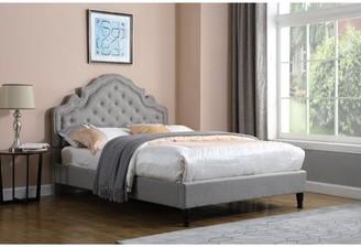 House Of Hamptonâ® Boyden Victoria Upholstered Platform Bed House of HamptonA Color: Gray, Size: King