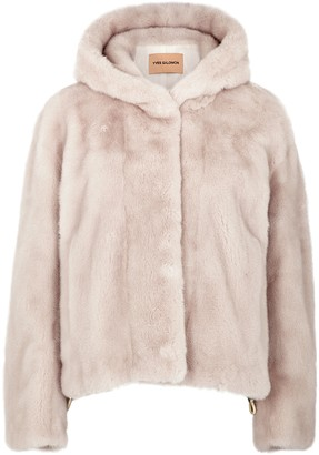 Yves Salomon Blush Mink Fur Jacket