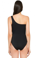 Caffe Swimwear - One Shoulder Sexy Cut Out One Piece In Black