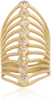 LFrank The Nine Stone Diamond Vertebrate Ring