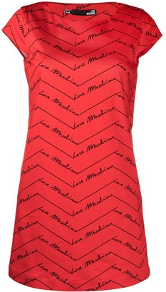 Love Moschino Logo Print Shift Dress