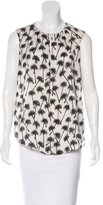 L'Agence Palm Print Sleeveless Top