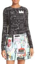 Alice + Olivia Women's Delaina Print Crop Top