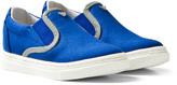 Armani Junior Blue Branded Slip On Shoes