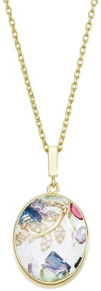 La Lumina 14k Gold Cubic Zirconia Accent Shaker Pendant Necklace