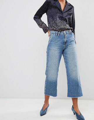 Pepe Jeans Patsy Cropped Flared Jeans-Blue