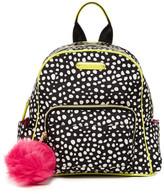 Betsey Johnson Medium Nylon Backpack with Faux Fur Key Fob