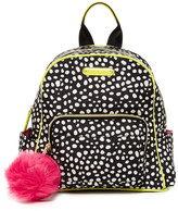 Betsey Johnson Spotted Medium Faux Fur Key Fob Nylon Backpack