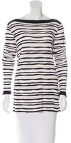 Armani Collezioni Textured Striped Top