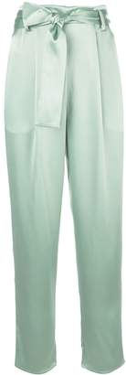 Sally LaPointe tie-waist straight-leg trousers