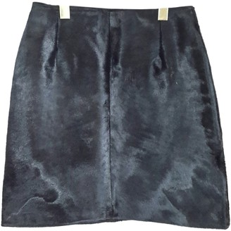 Gianni Versace Black Pony-style calfskin Skirt for Women Vintage
