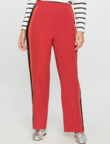 ELOQUII Plus Size Striped Satin Pants