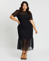 Atmos & Here Atmos&Here Curvy Genevieve Tiered Midi Dress