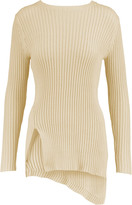 Soyer Asymmetric ribbed cotton sweater