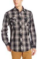 Burnside Men's Vessal Plaid Woven Shirt
