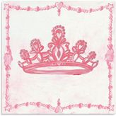 Oopsy Daisy Fine Art For Kids Too Princess Crown Canvas Wall Art in Pink