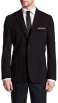 James Campbell Nuovo Black Woven Two Button Notch Lapel Blazer