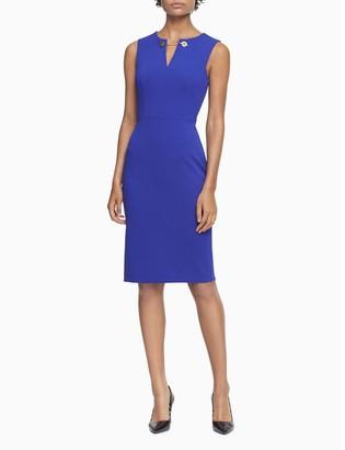 Calvin Klein Toggle Chain Sleeveless Sheath Dress