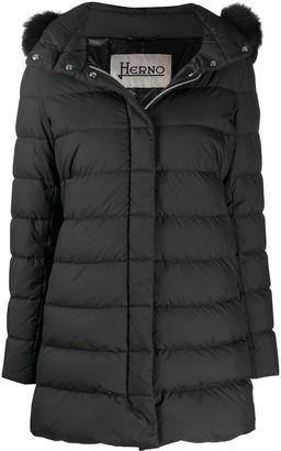 Herno Fur Trimmed Padded Coat