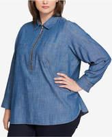plus size chambray shirt women - shopstyle