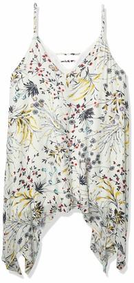 Lucca Couture Women's Floral Print Hankerchief Hem Mini Dress