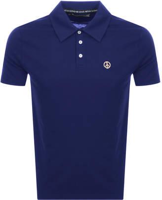 Moschino Love Short Sleeved Polo T Shirt Blue