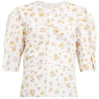See by Chloe Summer Floral Print Cotton Blouse - Womens - Ivory Multi