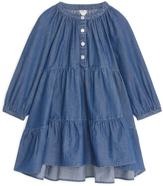 Arket Denim Frill Dress