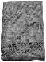 H&M Waffled Bedspread - Dark gray