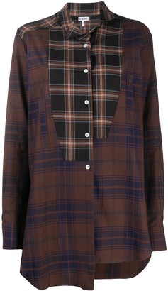 Loewe Asymmetrical Patchwork Cotton Shirt