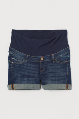 H&M MAMA Push-up Denim Shorts - Blue