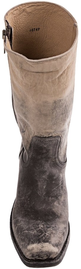Frye Heath Outside Zip Boots - Distressed Leather (For Men)