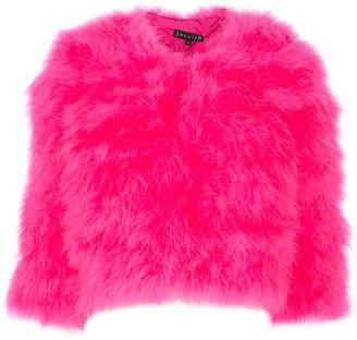Jocelyn Cropped Faux-Fur Jacket